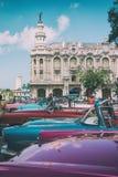 Classic Taxi Cabs In Havana Cuba Royalty Free Stock Photos