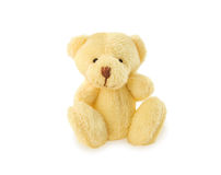Classic teddy bear sitting on white background. Stock Images
