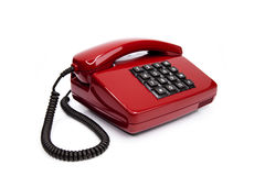 Classic telephone from the eighties Royalty Free Stock Images