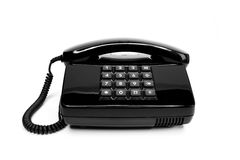 Classic telephone from the eighties Stock Photos