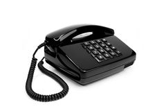 Classic telephone from the eighties Stock Photography