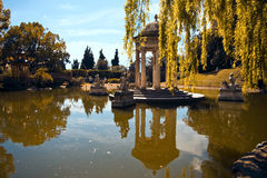 Classic Temple. Small classic temple in Pallavicini Park. The park was projected by the archtect Michele Canzio commisioned from Pallavicini and the works royalty free stock photos