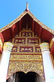 Classic Thai Gate of Temple. A beautiful classic gate of Thai temple Stock Photo