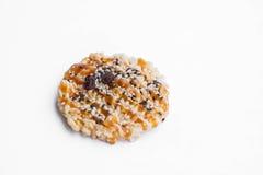 Classic Thai' healthy snack, Khon Tan on white background Stock Photos