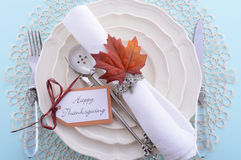 Classic Thanksgiving Table Setting Royalty Free Stock Photo