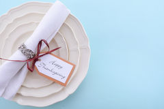 Classic Thanksgiving Table Setting Stock Photos