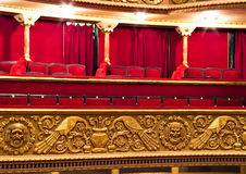 Classic theatre balcony Royalty Free Stock Photos