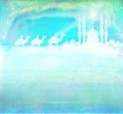 Classic three magic scene and shining star of Bethlehem Royalty Free Stock Images