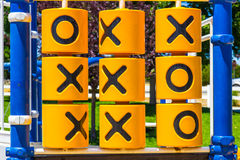 Classic Tic-Tac-Toe Game Outside At Childrens Playground Royalty Free Stock Photography