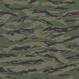 Classic Tiger stripe Camouflage seamless patterns. Vector Illustration stock illustration