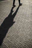 Classic tile sidewalks of the city of Barcelona Stock Photography
