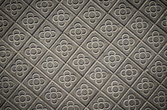 Classic tile sidewalks of the city of Barcelona Royalty Free Stock Images