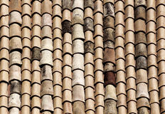 The classic tiles of the roofs of noto, sicily Stock Image