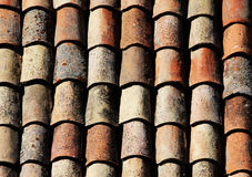 The classic tiles of the roofs of noto, sicily Royalty Free Stock Photos