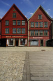 Classic timber framed buildings of Bryggen Royalty Free Stock Image