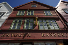 Classic timber framed buildings of Bryggen Royalty Free Stock Photography