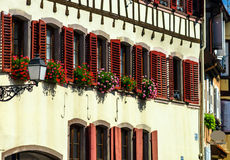 Classic timber-framing alsacien houses on the sun Royalty Free Stock Image