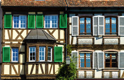Classic timber-framing alsacien houses on the sun Stock Photography