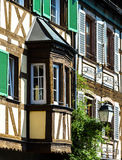 Classic timber-framing alsacien houses on the sun Royalty Free Stock Photography