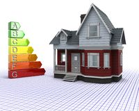 Classic Timber House with Energy ratings Royalty Free Stock Photography