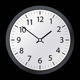 Classic time Clock vector web Royalty Free Stock Image
