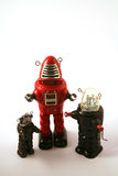 Classic tin toy robots Royalty Free Stock Photography