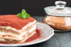 The classic tiramisu cake royalty free stock images