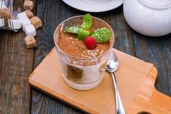 Classic tiramisu dessert royalty free stock image