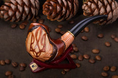 Classic tobacco pipe Royalty Free Stock Image