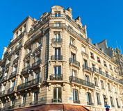 Classic townhouse. In downtown Paris, France royalty free stock image