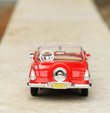 Classic toy car back Stock Photos
