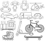 Classic toys. Set of classic toys in simple design Stock Photo