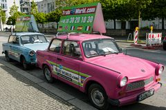 Vintage cars in Berlin Stock Images