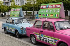 Vintage cars in Berlin Stock Photography