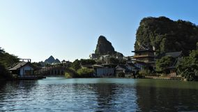 Chinese Architecture along Li River in Guilin royalty free stock image