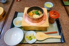 Classic traditional Japanese food set., Osaka, Japan royalty free stock image