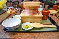 Classic traditional Japanese food set., Osaka, Japan stock image