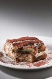 Classic, traditional tiramisu fresh cake Stock Images