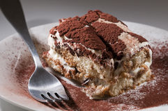 Classic, traditional tiramisu fresh cake Royalty Free Stock Images