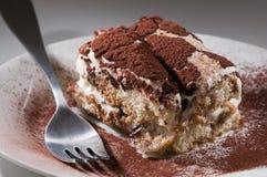 Classic, traditional tiramisu fresh cake Royalty Free Stock Images