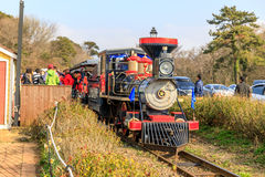 Classic train at EcoLand in Jeju island Royalty Free Stock Photography