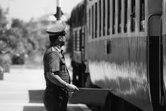 Classic train is the transportation on railway in thailand Royalty Free Stock Photography