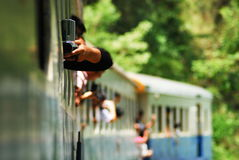 Classic train is the transportation on railway in thailand Royalty Free Stock Photos