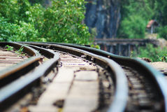 Classic train is the transportation on railway in thailand Stock Photos