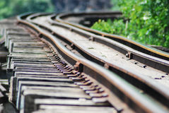 Classic train is the transportation on railway in thailand Royalty Free Stock Images