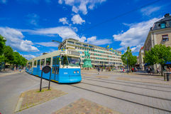 Classic tram in Kungsporten square, downtown Stock Photography