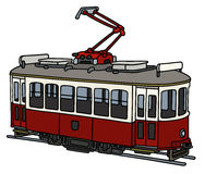 Classic tramway. Hand drawing of a vintage electric tramway Royalty Free Stock Image