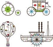 Classic Transportation Icons. Stylized icons of classic transportation. Eps10 royalty free illustration