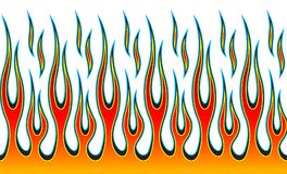 Classic tribal hotrod muscle car flame pattern Stock Images