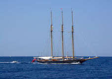 Classic triple masted schooner Royalty Free Stock Images